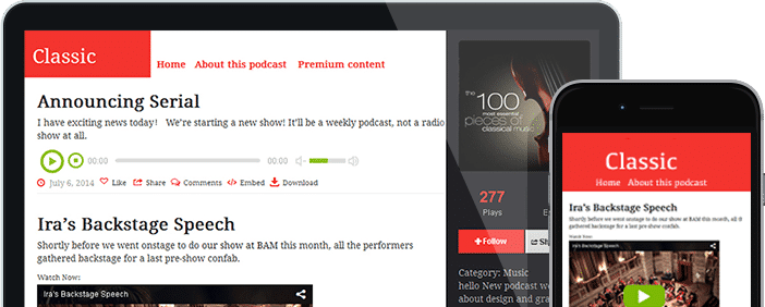 Podcast Themes Podcast Website Design Free Template By Podbean - Podcast website template